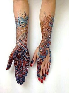 Mehndi - This one is my favorite! Such stunning colors