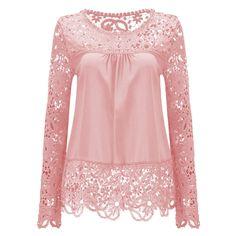 Summer Chiffon Lace Blusa Blouse Chemise Femme Plus Size Blusas Long Sleeve Women Tops Shirt Women Clothes