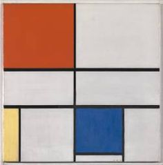 "Piet Mondrian, 'Composition C (No.III) with Red, Yellow and Blue' 1935. tension b/w  life's opposites. good example of Neo-plasticism. ""art's lego's for spiritually-minded grown-ups"" :)"