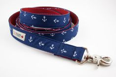 Navy Blue Anchor Dog Leash by SillyBuddy on Etsy, $39.50