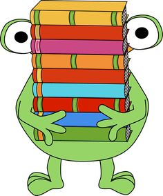 Monster Carrying a Stack of Books Clip Art - Monster Carrying a Stack of Books Image Monster Book Of Monsters, Cute Monsters, Monster Mash, Monster Theme Classroom, Monster Clipart, Free Clipart Images, Fallen Book, Theme Halloween, Monster Party