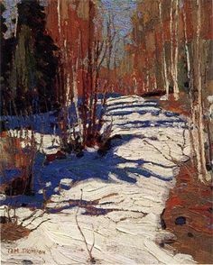 Tom Thomson, 1917, Path Behind Mowat Lodge. Oil on wood 26.8 x 21.4cm. The Thomson Collection, Art Gallery of Ontario, Toronto