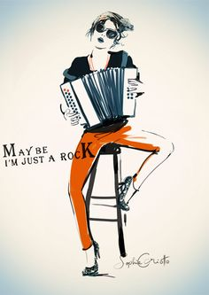 Sophie Griotto Illustration - 'Maybe I'm Just A Rock'