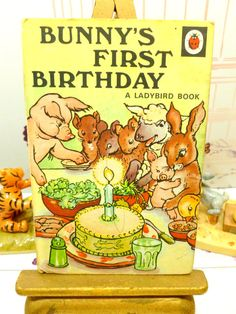 Vintage Ladybird Book Bunnys First Birthday Baby by KittysTales
