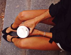 I am strong coffee, subtle jewelry, black is always best, and awsome shoes are my weakness.