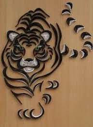 Image result for wave pattern string art