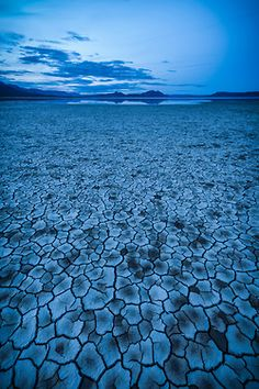 Mirage. Alvord Desert in Southeastern Oregon.