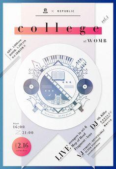 『OL Killer & REPUBLIC presents「college vol.1」@渋谷WOMB』フライヤー