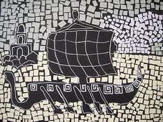 Use Your Coloured Pencils: Ancient Roman Style Paper Mosaics Ancient Rome, Ancient Greece, Ancient Art, Ancient History, Art History, Mosaic Art Projects, Rome Antique, Paper Mosaic, 6th Grade Art