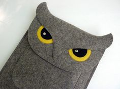 Owl iPad Air 1 / 2 iPad  2 / 3 / 4 felt case por BoutiqueID en Etsy