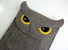 Owl iPad Air 1 / 2 iPad  2 / 3 / 4 felt case por BoutiqueID en Etsy