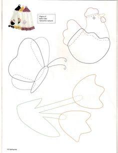 Panos de pratos Applique Templates, Applique Patterns, Applique Designs, Quilt Patterns, Sewing Patterns, Applique Monogram, Wool Applique, Applique Quilts, Embroidery Applique