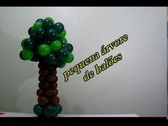 pequena árvore de balões - small tree of balloons - YouTube