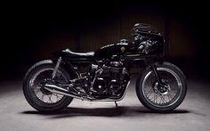 "Jeremie Magri's Honda CB500 Cafe Racer ""Black Custom"" by Kikishop Customs - The Royal Racer #motorcycles #caferacer #motos   caferacerpasion.com"