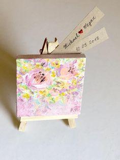 4645e6f5b Mini painting Original painting Acrylic painting Floral | Etsy Recuerdos  Matrimonio, Pintura De Color Rosa