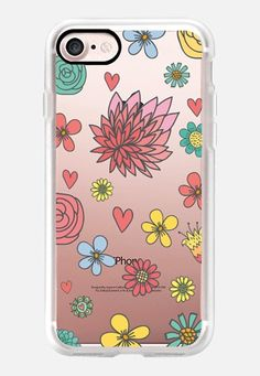 Casetify iPhone 7 Classic Grip Case - Flowers & Flowers by Petit Griffin #Casetify