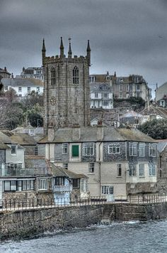 Town view, St Ives, Cornwall: I never saw the man with 7 wives. St Ives Cornwall, Devon And Cornwall, Cornwall England, Yorkshire England, Yorkshire Dales, England Ireland, England And Scotland, Places To Travel, Places To See
