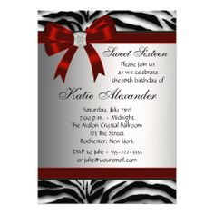 >>>Cheap Price Guarantee          Red Zebra Bow Sweet Sixteen Birthday Party Personalized Announcements           Red Zebra Bow Sweet Sixteen Birthday Party Personalized Announcements Yes I can say you are on right site we just collected best shopping store that haveHow to          Red Zebr...Cleck Hot Deals >>> http://www.zazzle.com/red_zebra_bow_sweet_sixteen_birthday_party_invitation-161601042412976275?rf=238627982471231924&zbar=1&tc=terrest