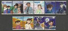 francobolli usati Japan Mazinger Z DragonBall Lamù 009 Conan Gotchaman Doraemon