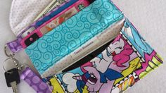 My Little Pony Cell phone wallet/wristlet by TweetBlossoms on Etsy