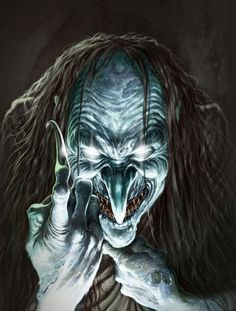 Black Annis -- A malevolent being with blue skin, she roamed the countryside and enjoyed meals of lambs and children. If she caught a child, she would tan its skin and wear it around her waist. Her home was a cave she carved with her iron claws known as Black Annis's Bower.