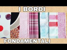 ✂️ I Bordi fondamentali ✂️ - YouTube Learn To Sew, E Design, Sewing Tutorials, Diy Tutorial, Outdoor Blanket, Hobbies, Learning, Youtube, Handmade
