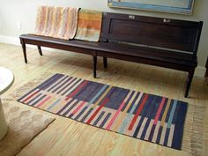 """Just added Ann Roantree to my """"Where to Buy Exceptional Handcrafted Rugs by Fema… – Handmade Rugs Card Weaving, Weaving Art, Weaving Patterns, Loom Weaving, Rug Inspiration, Textiles, Custom Rugs, Weaving Techniques, Rug Hooking"""