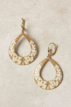 Pieced Reflection Hoops - Anthropologie.com