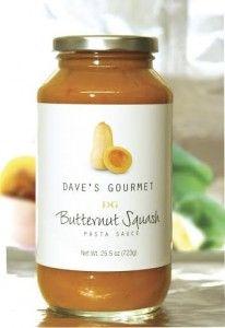 Dave's Gourmet Butternut Squash Pasta Sauce #madeinUSA