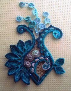 Freeform Crochet, Crochet Art, Crochet Motif, Crochet Designs, Crochet Flowers, Crochet Patterns, Russian Crochet, Irish Crochet, Pinterest Crochet