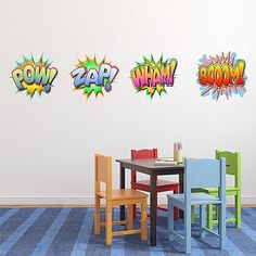 Comic Book Words Wall Stickers