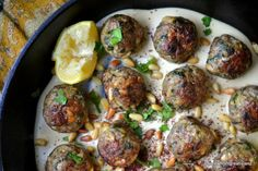 Moroccan Lemon and Cardamom Lamb Meatballs. yum! Serve with hummus and a side of tomato/cucumber salad for dinner!