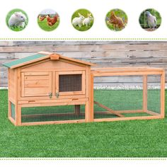 Wooden Rabbit Chicken Coop Poultry Cage Material: Fir wood Overall dimensions: x x (L x W x H) Wooden door size: x (L x W) Iron mesh door size: x (L x W) Tray size: x (L x W) Product weight: 30 lbs Material: Chinese fir Product weight: lbs Rabbit Life, House Rabbit, Hen House, Outdoor Rabbit Hutch, Poultry Cage, Small Animal Cage, Wooden Rabbit, Chicken Coop Plans, Rabbit Hutches