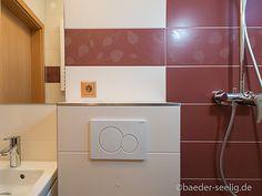 Badideen für kleine Bäder - BÄDER SEELIG Mini Bad, Bathroom Lighting, Mirror, Furniture, Home Decor, Tall Mirror, Small Baths, Guest Toilet, Bathroom Light Fittings