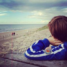 Floris aan het strand, september 2013