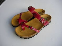20% Off, Free Shipping, Red Leather Sandals, Red Sandals, Summer Shoes, Flat Sandals, Straps Sandals  Leather sandals with treatment plant without