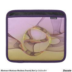 Abstract Motions Modern Fractal Art iPad Sleeve