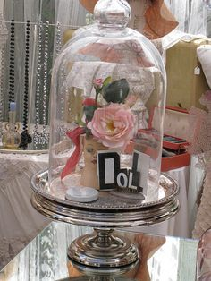 Cloche - on Silver Cake Stand