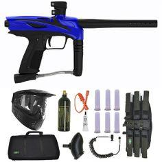 GOG eNMEy Paintball Marker Gun 3Skull Sniper Set - Razor Blue. Available at Ultimate Paintball!  http://www.ultimatepaintball.com/p-10124-gog-enmey-paintball-marker-gun-3skull-sniper-set-razor-blue.aspx