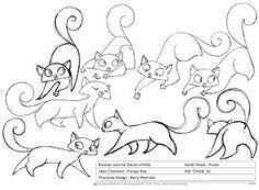 Pangur Ban character design, The Secret of Kells - lead animator Barry Reynolds Cat Character, Character Design References, Character Sheet, Cat Drawing, Drawing Eyes, The Secret Of Kells, Song Of The Sea, Book Of Kells, All Nature