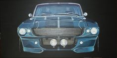 """Projet Shelby""  Ford Shelby GT 500 Eleonor Peinture acrylique 120 x 60 cm, mai 2014. Collection A. G."