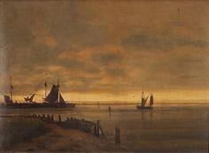 Caspar David Friedrich  Romantische Küstenlandschaft