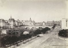 Charles Nègre, Construction du pont d'Arcole, 1855 - Pont d'Arcole - Wikipedia, the free encyclopedia