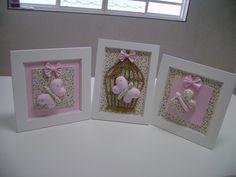 quadro trio  borboleta