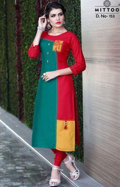 Buy Online wholesale ladies Dress materials, sarees, Kurtis and leggigns Khadi Kurta, Rayon Kurtis, Designer Dresses, Designer Kurtis, Latest Kurti, Batik Fashion, Women Wear, Ladies Wear, Dress Neck Designs