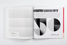 Cover for the 2016 redesign of Creative Review and identity for Creative Leaders 50.The cover incorporates an identity created for Creative Leaders 50, a new scheme designed to celebrate, educate and inspire those who are leading creative businesses, or…