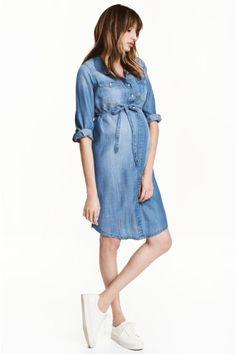 MAMA Lyocell dress - Denim blue - Ladies | H&M GB 1
