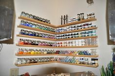 glass frit storage | Lori Greenberg - Frit Storage - IKEA picture shelves and ... | Home S ...