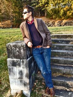 Looking sharp for the middle of the week. Blazer Jeans, Brown Blazer, Tomboy Outfits, Cool Outfits, Fashion Outfits, Butch Girls, Tomboys, Cool Style, My Style