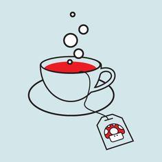 Camiseta 'Chá com Mario Bros.'. http://cami.st/p/1010